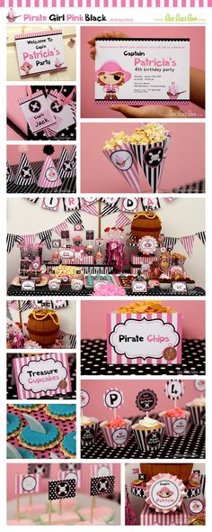 Pirate Birthday Party Package Collection Set Mini by LeeLaaLoo