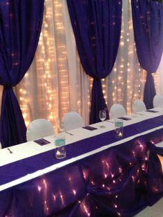 Purple backdrop