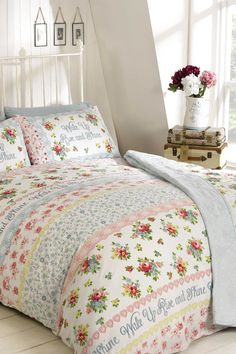 Holly Willoughby Ruby Fl Duvet Cover Grey Double Bhs Sheets Covers Pinterest And
