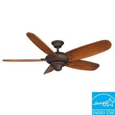 Hampton Bay, Altura 56 in. Indoor Oil-Rubbed Bronze Ceiling Fan, 56269 at The Home Depot - Mobile