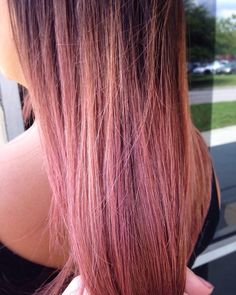 Blush Rose Gold using Kenra + Pravana, Rose gold hair, blush pink hair. Pink hair, ombrè, sombrè, blonde hair,