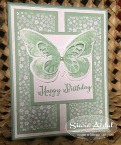 Stampin Up card Siara Sweet Sensations: Watercolor Wings stamp set