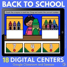 These digital back to school math and literacy centers are perfect for your classroom or virtual classroom to start out the school year with some fun enrichment activities… digitally! These digital back to school centers are ready to use in Google Classroom and Seesaw. Included are 18 different digital math and literacy activities: letter ID, letter match, rhyming, beginning sounds, colors, sorting, sight words, counting to 10, number sense, 1:1 correspondence, number order, 2D shapes, and more!