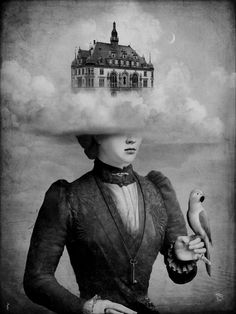 Castle in the Clouds by Christian Schloe. Original in colour. °