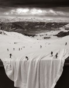 skiing on the table cloth - thomas barbey