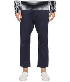 Vince Drop-Rise Cropped Drawstring Pants (Coastal Blue) Men's Casual Pants