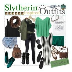 """Slytherin Inspired Outfits!"" by outofthisworld-tips on Polyvore"
