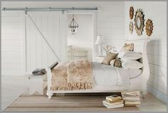 Vintage bedroom with innocent white for calm sleeping. #painters #decorators #builders #tilers #London #bedroom #vintage