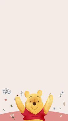 Winnie The Pooh Background, Winnie The Pooh Gif, Winne The Pooh, Phone Wallpaper Images, Disney Wallpaper, Iphone Wallpaper, Disney Phone Backgrounds, Pooh Bear, Baby Cartoon