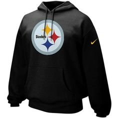 Mens Nike Pittsburgh Steelers Classic Logo Pullover Hoodie Sweatshirt - Black | eBay     http://stores.shop.ebay.com/jodezegiftsnmore  #nfl #steelers