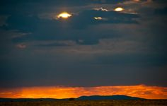 Son of a sun? Namibia sunsets deliver a double whammy