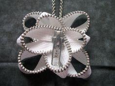 Zipper Jewelry Flower Necklace by SiennaSews on Etsy, $9.98