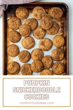 Pumpkin Snickerdoodles: Pumpkin and cinnamon sugar flavors, these soft and chewy cookies are the perfect addition to your treat rotation! #pumpkinsnickerdoodles #pumpkinsnickerdoodlecookies #goodcookierecipe #cookierecipes #easyrecipes #dessertrecipes #falldesserts #cookies #pumpkinrecipes #snickerdoodles Delicious Cookie Recipes, Savory Pumpkin Recipes, Easy Cookie Recipes, Baking Recipes, Dessert Recipes, Yummy Food, Kitchen Recipes, Pie Recipes, Breakfast Recipes