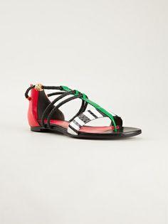 ALEXANDER MCQUEEN - colour block sandals 6