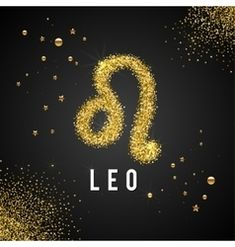 Zodiac Sign Leo Gold Tinsel, scattered on black background. Zodiac Signs Leo, Aries Zodiac, Lion Photography, Leo Star, Leo Quotes, Leo Lion, Fire Signs, Patches, Vector Art