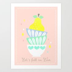 let´s fall in love Art Print by Elisandra - $15.60