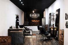 Modern Barber Shop, Barber Shop Interior, Hair Salon Interior, Barber Shop Decor, Salon Interior Design, Barber Shop Vintage, Cheap Kitchen Makeover, Barbershop Design, Beauty Salon Decor