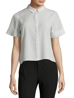 bf214867988 French Connection Point Collar Button-Down Shirt