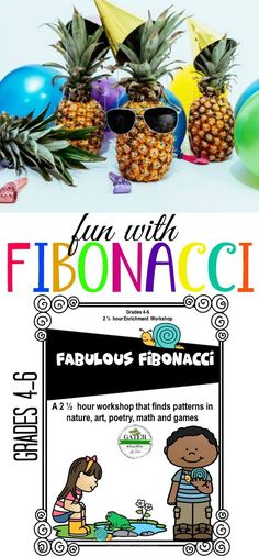 These Fibonacci Sequence activities make for a great 2 1/2 hour lesson or can be split as fun math art poetry and science centers. There's even an interactive Fib Nim Game! Your upper elementary students will love all the creative ways to learn and play with Leonardo Fibonacci. This is an easy prep lesson plan with over 2 hours of activities. Perfect for substitute lesson plans, enrichment, GATE or homeschool.