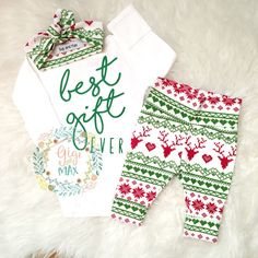 Best Gift Ever baby girl Newborn Outfit
