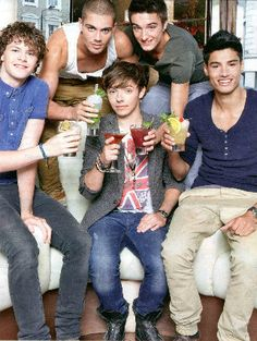 the wanted...lol Nathan's probably having like strawberry soda or something ;) :P