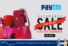 #Paytm #offers Flat 70% + 20% #Cashback on Diana Korr, Fostelo, Lengloy HandBags Brands. Coupon Code – BAG20  http://www.paisebachaoindia.com/get-flat-70-20-cashback-on-handbags-paytm/