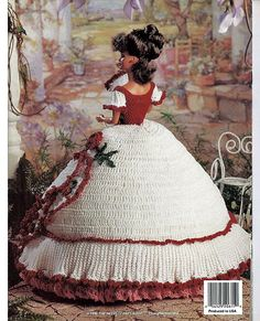 Ladies of Fashion Melanies Evening Gown  Fashion Doll  Crochet Pattern  The Needlecraft Shop 962504.
