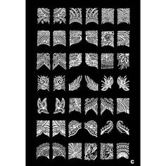 1PCS 42 Plant Pattern Nail Art Stamp Stamping Image Template Plate C - USD $ 11.99