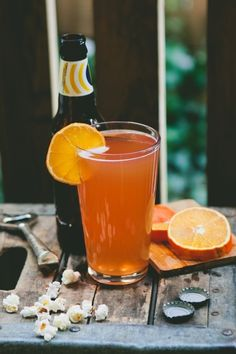 The Blood Orange Shandy & 25 other drinks that prove beer cocktails are a great idea.