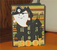 #Cricut. Project Center - Boo Card. Love this card with fantastic cuts from cricut cart.