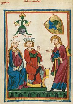 Codex Manesse, UB Heidelberg, Cod. Pal. germ. 848, fol. 344v, Bruder Wernher
