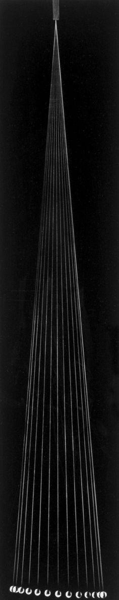 Berenice Abbott's Minimalist Black-and-White Science Imagery, 1958-1960.  The Pendulum (1960)