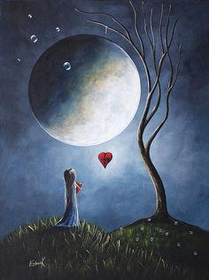 Luna con corazón...