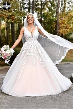 Elegant A-line Long V-neck 2017 Pink Prom Dress Wedding Dress sold by modseleystore. Shop more products from modseleystore on Storenvy, the home of independent small businesses all over the world. Long Gown For Wedding, V Neck Wedding Dress, Pink Wedding Dresses, Applique Wedding Dress, Elegant Wedding Dress, Plus Size Wedding, Bridal Dresses, Wedding Gowns, Prom Dresses