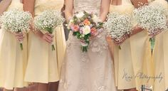 summer -- the baby's breath by itself might be a gorgeous (and cheap) bridesmaid flowers for a winter wedding!
