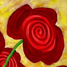 Log in to your Etsy account. Rose Art, Abstract Flowers, Flower Art, Red Roses, Art Projects, Art Ideas, Whimsical, Folk, Paintings