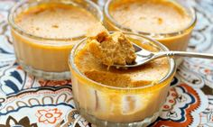Pumpkin Mousse - High in healthy fat and low in sugar, this easy, paleo-friendly mousse recipe combines savory pumpkin, sweet raw honey and seasonal spices. Pumpkin Custard, Pumpkin Pudding, Baked Pumpkin, Pumpkin Spice, Pumpkin Mousse, Pumpkin Puree, Gluten Free Pumpkin, Pumpkin Recipes, Paleo Dessert