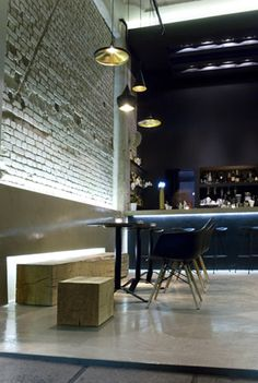 Cafe Bar Punto Nero, Thessaloniki, Greece by P. Makridis Associates