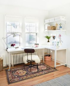 Home Office Ideas Small Spaces Murphy Beds 65 New Ideas Home Office Design, Home Office Decor, Home Decor Bedroom, Office Ideas, Room Decor, Ikea Office, Cottage Bedrooms, Bedroom Desk, Basement Guest Rooms