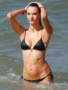 Kendall and Kourtney Out-Teeny Bikini Each Other (and More Sizzling Celeb Swimwear Pics)   ALESSANDRA AMBROSIO   Oh, that's why she gets paid millions to pose in lingerie and design her own swimwear line.