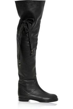 Gianmarco Lorenzi Custom Over knee Boots Black
