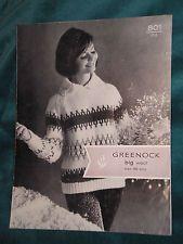 Stunning Nordic FairIsle  Jumper Sweater Chunky 60s Vintage Knitting Pattern 801
