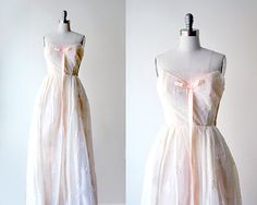 60's pink gown. 1960's prom dress. pastel dress. by stickylipgloss