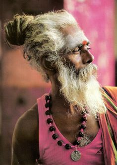 This elderly Indian gentleman is not afraid to wear pink!  #ombeachemporium loves this