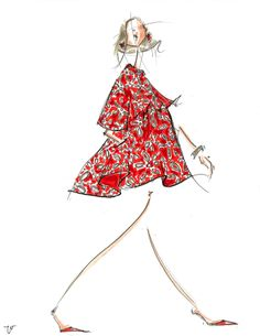 Fashion illustration markersandmicrons.com
