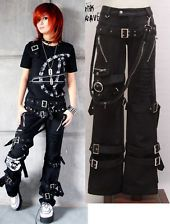 HOT SALE VISUAL kei PUNK ROCK Emo Japan Kera Buckle Pants Trousers XL