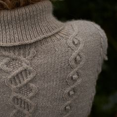 Blacker Swan Cable Sweater knitting pattern design detail