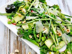 spring salad with asparagus and goat cheese I would add Red pepper flakes!