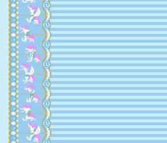 Carousel Border Print 3 fabric by tenderlovingclaire on Spoonflower - custom fabric