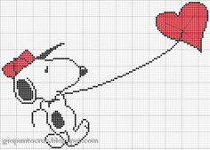 Χειροτεχνήματα: σχέδια με τον Σνούπυ για κέντημα / Snoopy cross stitch patterns